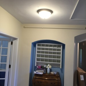 new entryway paint and lighting